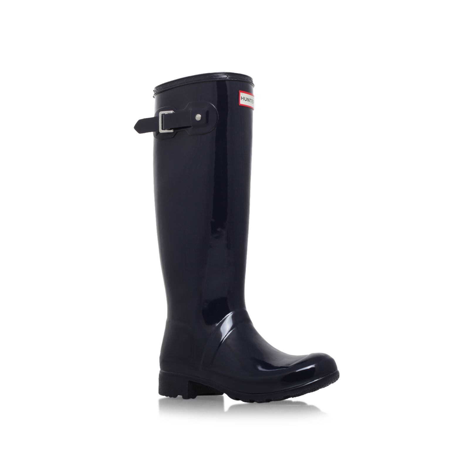 Hunter Original Tour Gloss Flat Knee High Rain Boots in ...