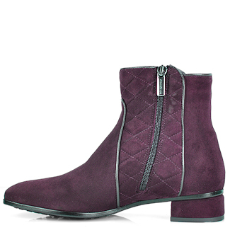 Lyst Aquatalia Quilted Suede Bootie In Purple