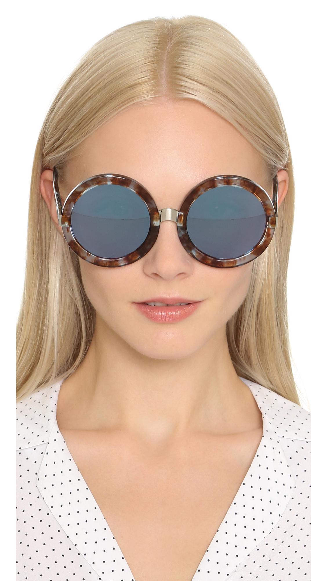7ab6471268 Lyst - Wildfox Malibu Deluxe Sunglasses - Coconut denim Mirror in Brown