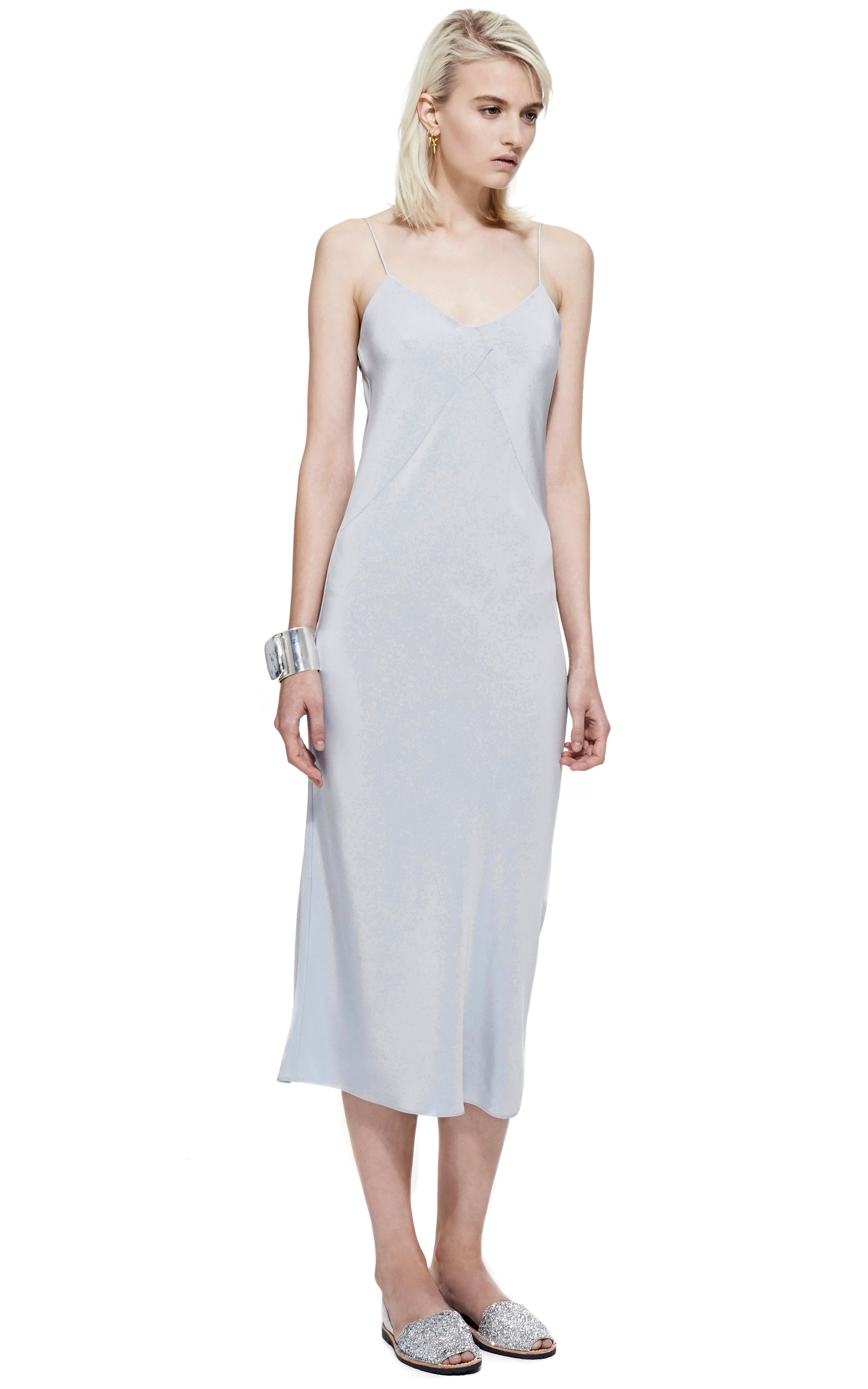 Cade Light Blue Silk Dress in Blue | Lyst