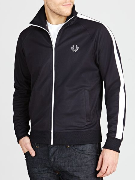 fred perry track jacket in blue for men navy lyst. Black Bedroom Furniture Sets. Home Design Ideas