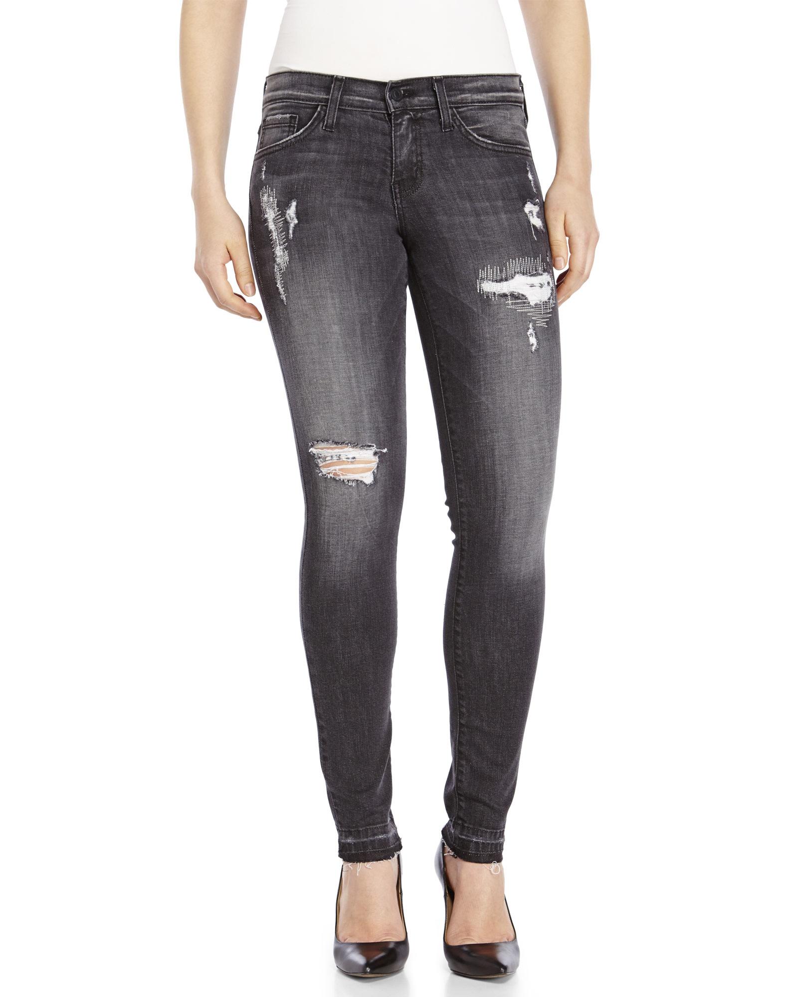 Dark Grey Skinny Jeans - Jeans Am