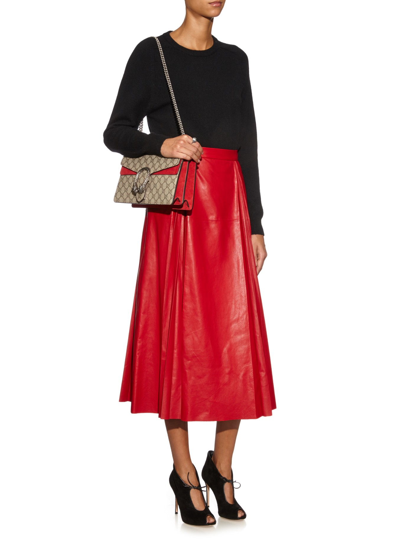 8857f7e5de78 Gucci Dionysus GG Supreme Canvas Shoulder Bag in Gray - Lyst