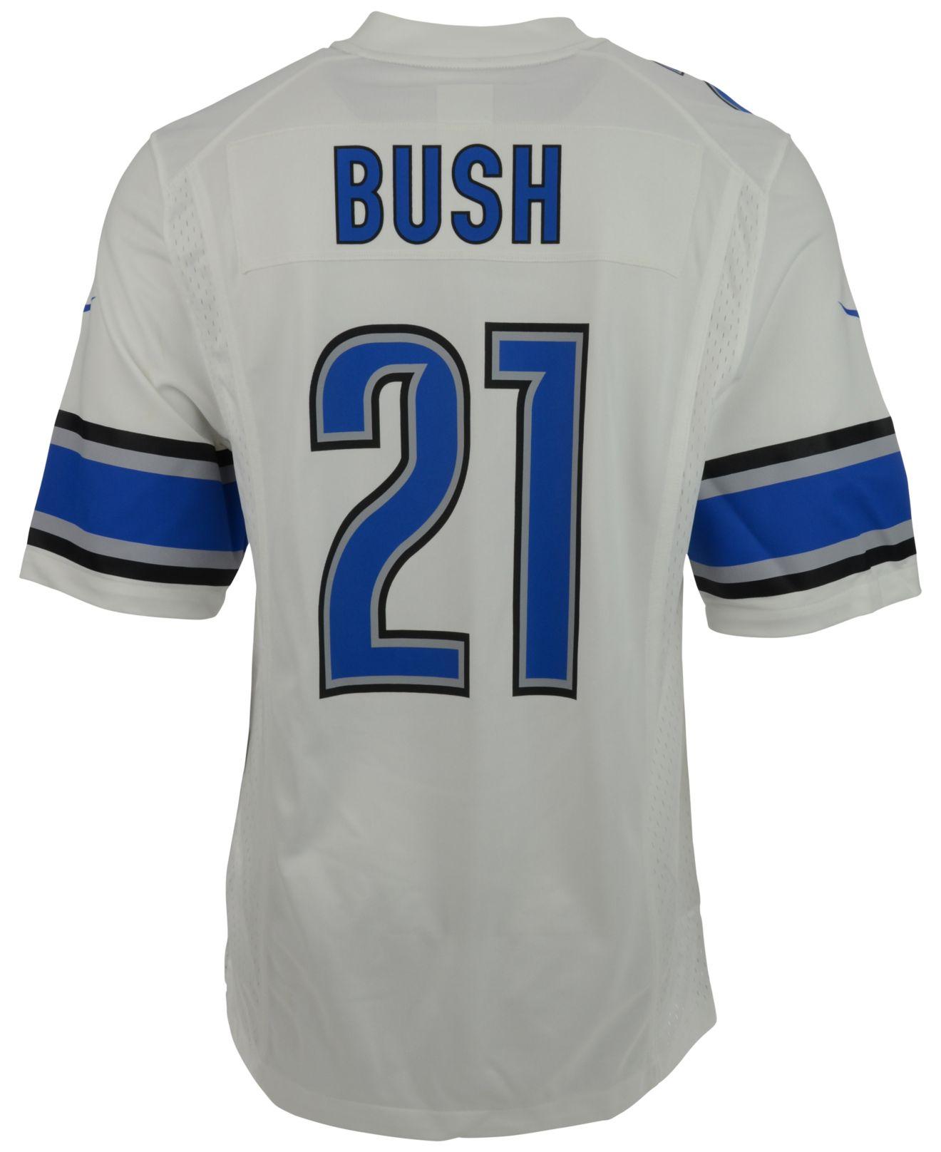 innovative design 44665 fc791 Lyst - Nike Men's Reggie Bush Detroit Lions Game Jersey in ...