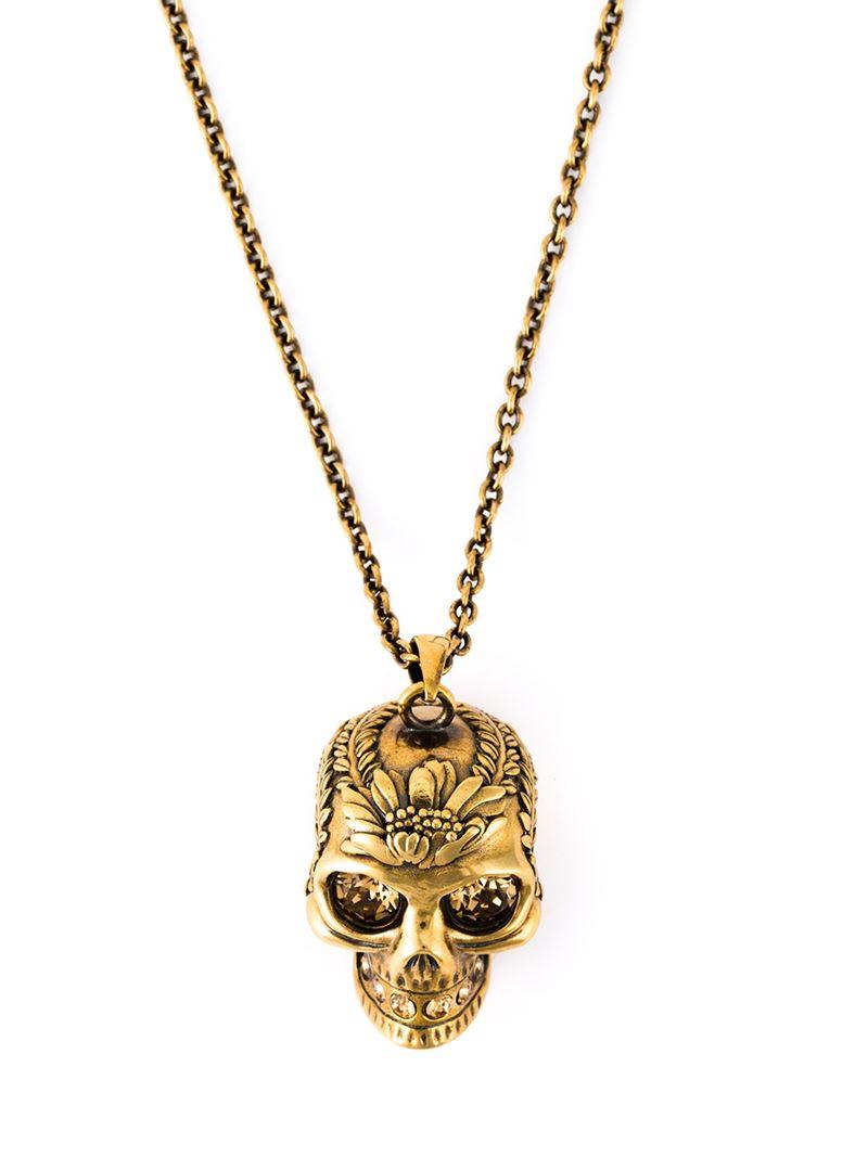 Alexander McQueen pearl charm necklace - Metallic 1vKgxGFRaT