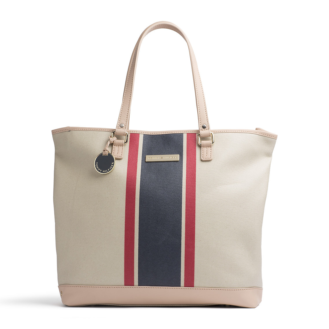 tommy hilfiger judie tote bag in beige natural lyst. Black Bedroom Furniture Sets. Home Design Ideas