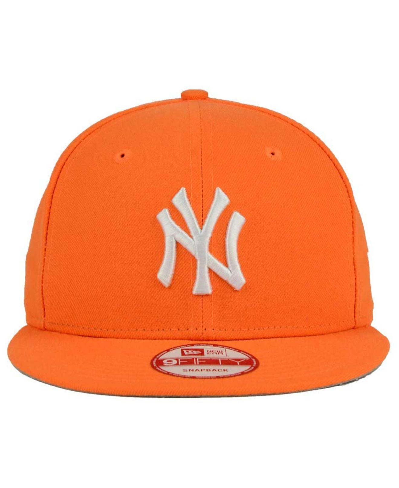 3a13ffcc4aa ... usa lyst ktz new york yankees c dub 9fifty snapback cap in orange for  men 70ef4