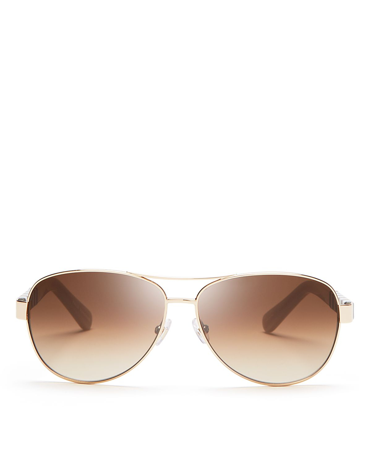 Kate Spade Polarized Aviator Sunglasses  kate spade new york dalia aviator sunglasses 58mm in metallic lyst
