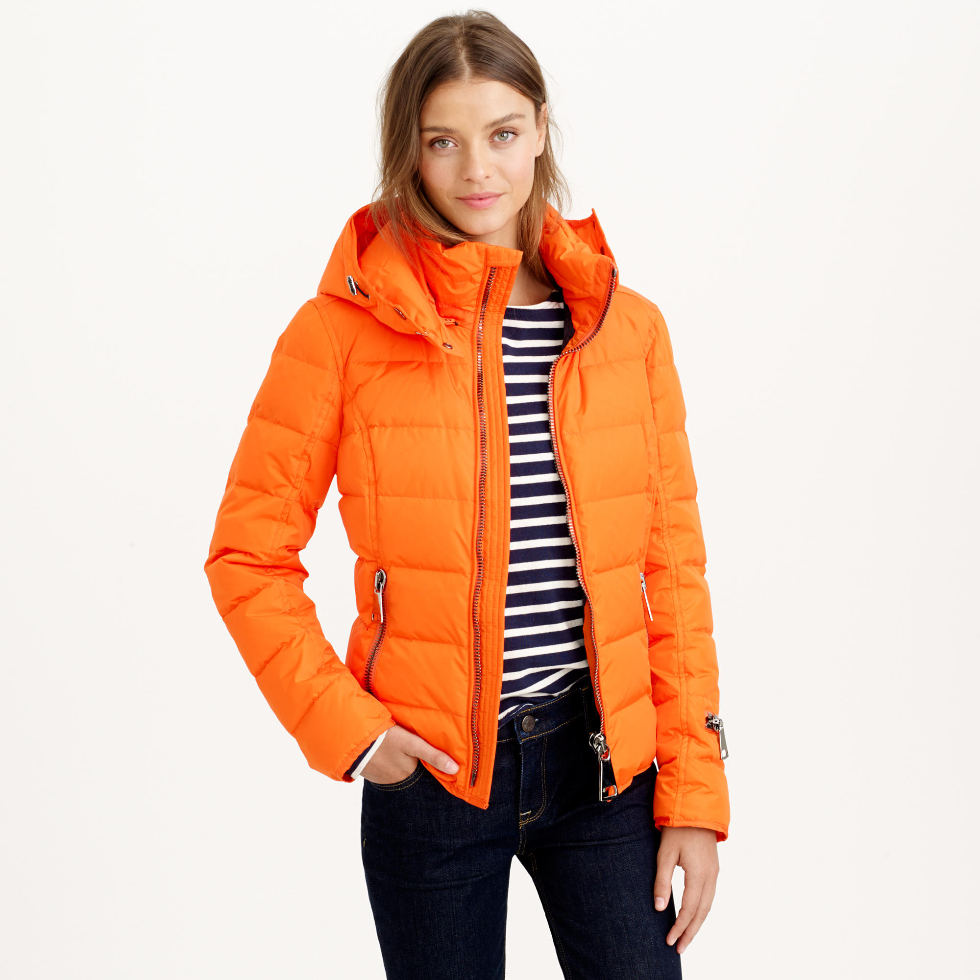 J.Crew Authier New Fit Jacket in Orange - Lyst 9a26f3c52