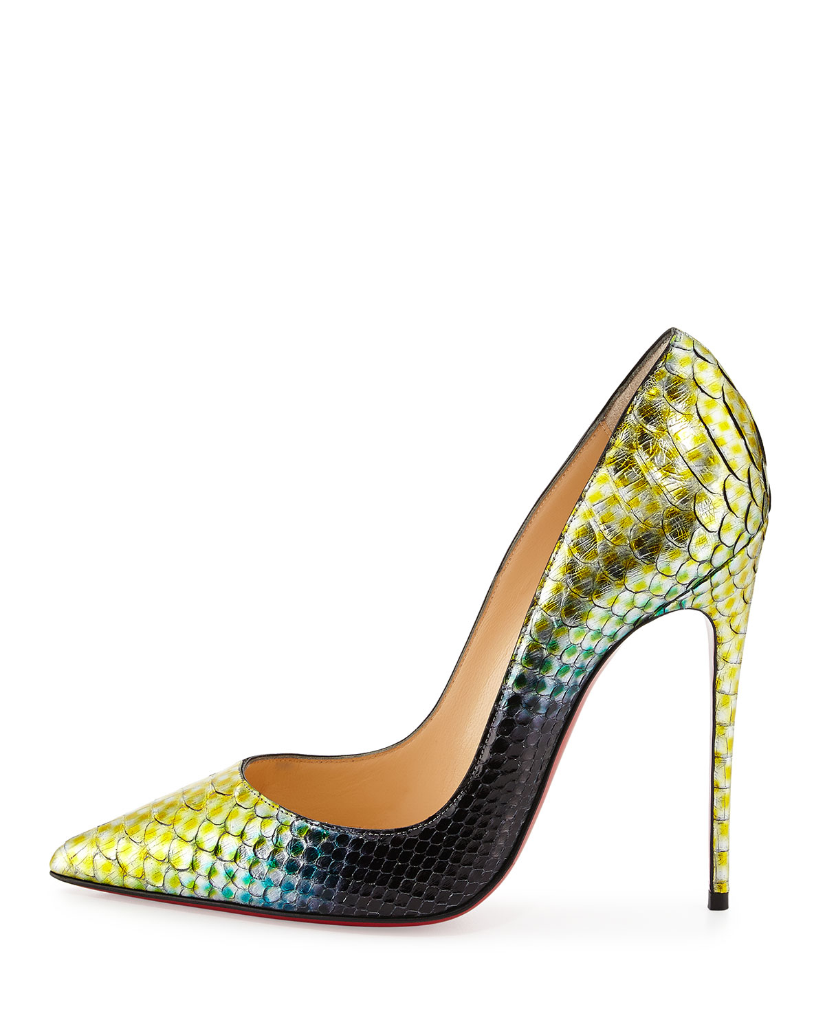 Artesur ? christian louboutin Pigalle python pumps Green and ...