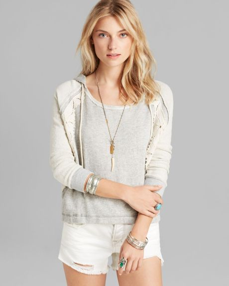 Free People Hoodie Only You in Gray (Grey Combo)   Lyst