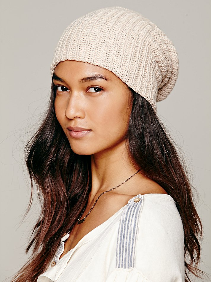 Lyst - Free People Womens Capsule Slouchy Beanie in Natural 048515e2ed1b