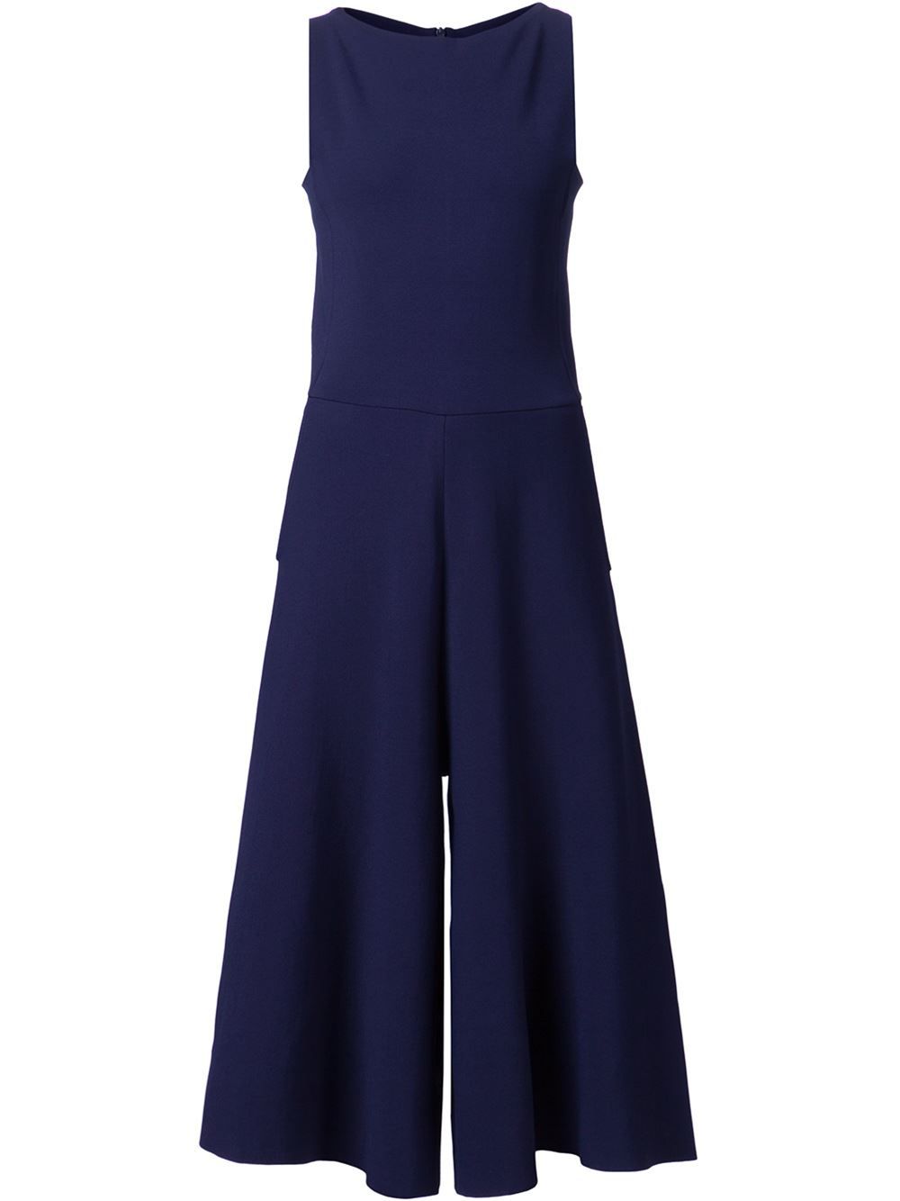 Valentino Wide Leg Jumpsuit in Blue | Lyst
