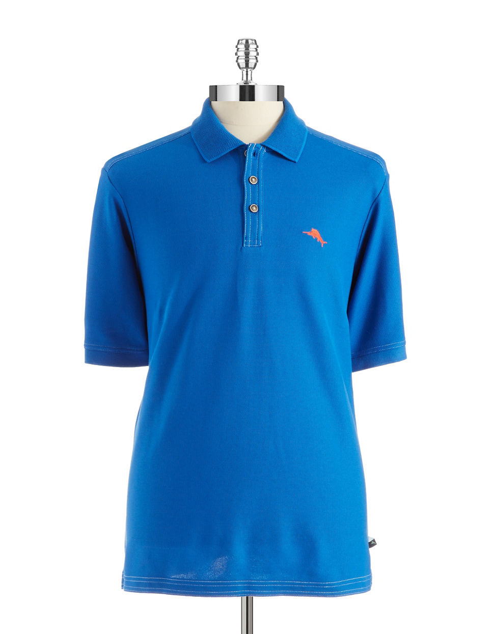 Lyst tommy bahama emfielder polo shirt in blue for men for Tommy bahama christmas shirt 2014