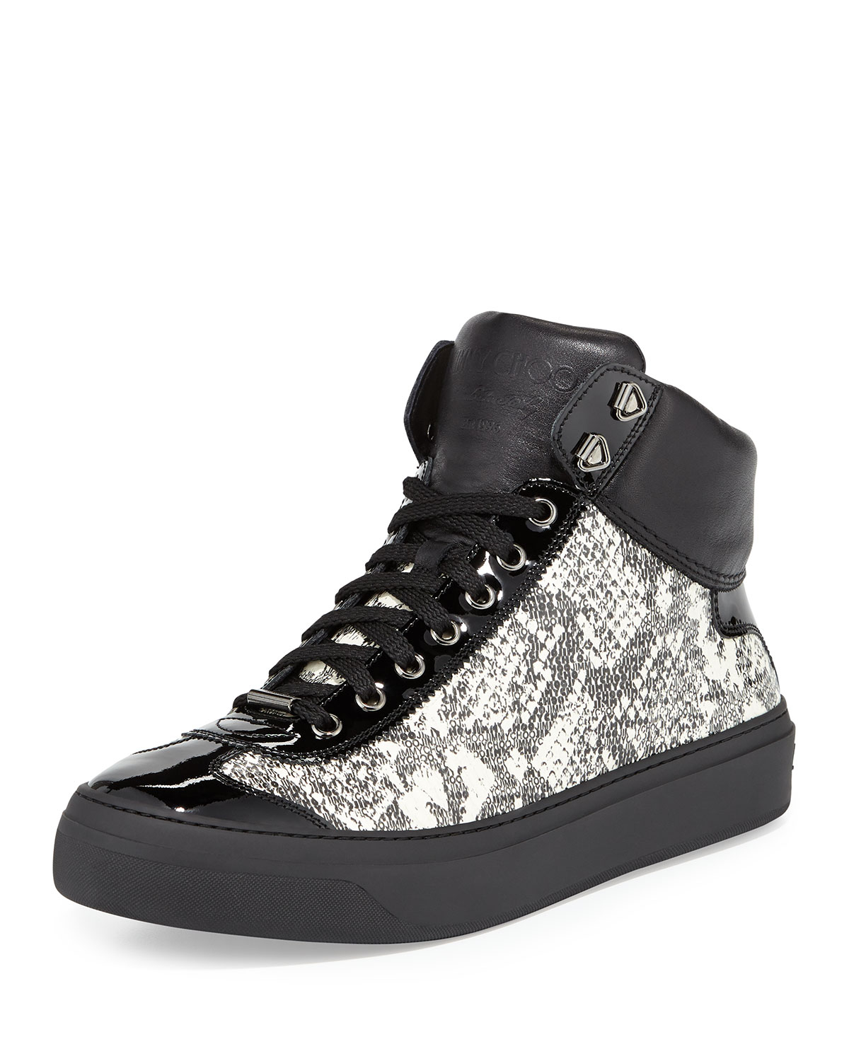 c90ec5136401 coupon code for black crocodile high top leather sneakers belgravia jimmy  choo f4c24 20436  reduced jimmy choo mens sneakers velcro 9c46a d7140