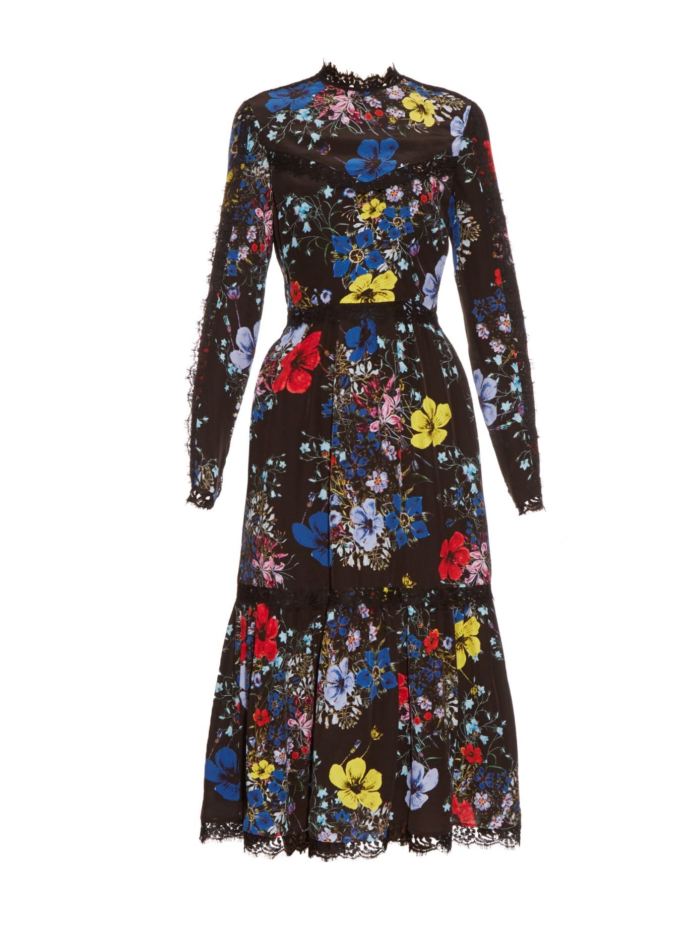 Erdem Floral Dress Black