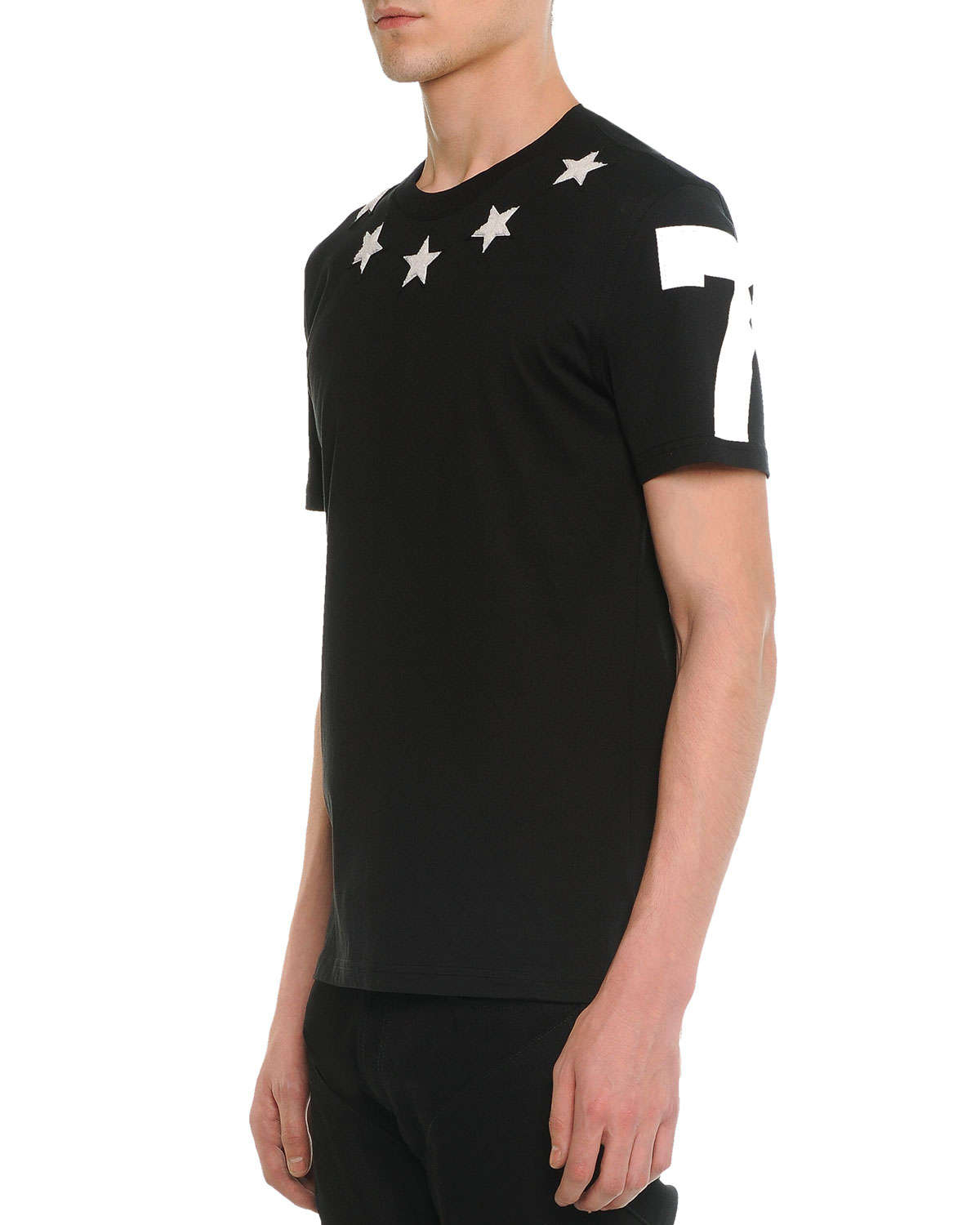 Givenchy Star Print Cuban T Shirt In Black For Men Lyst