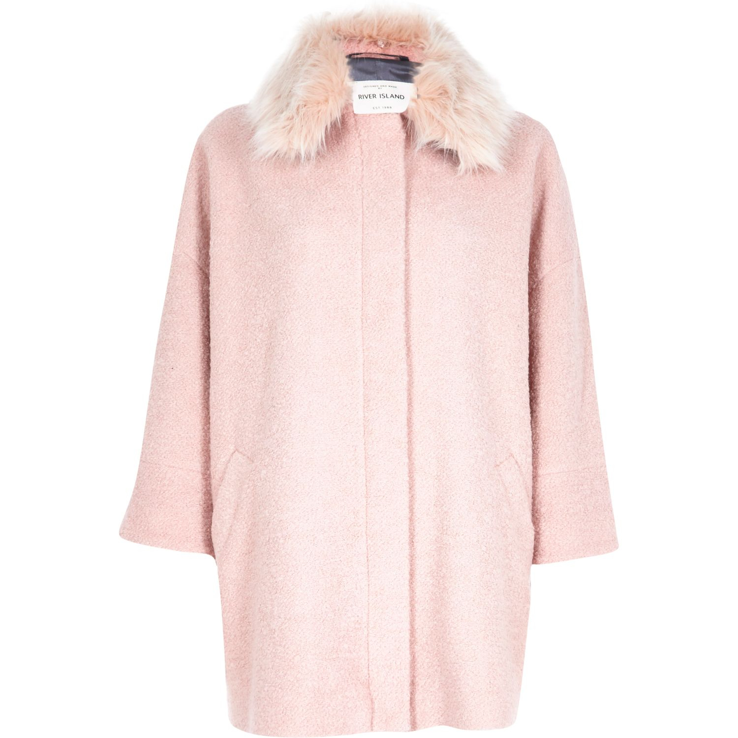 light pink coat light pink oversized coat coat nj 948