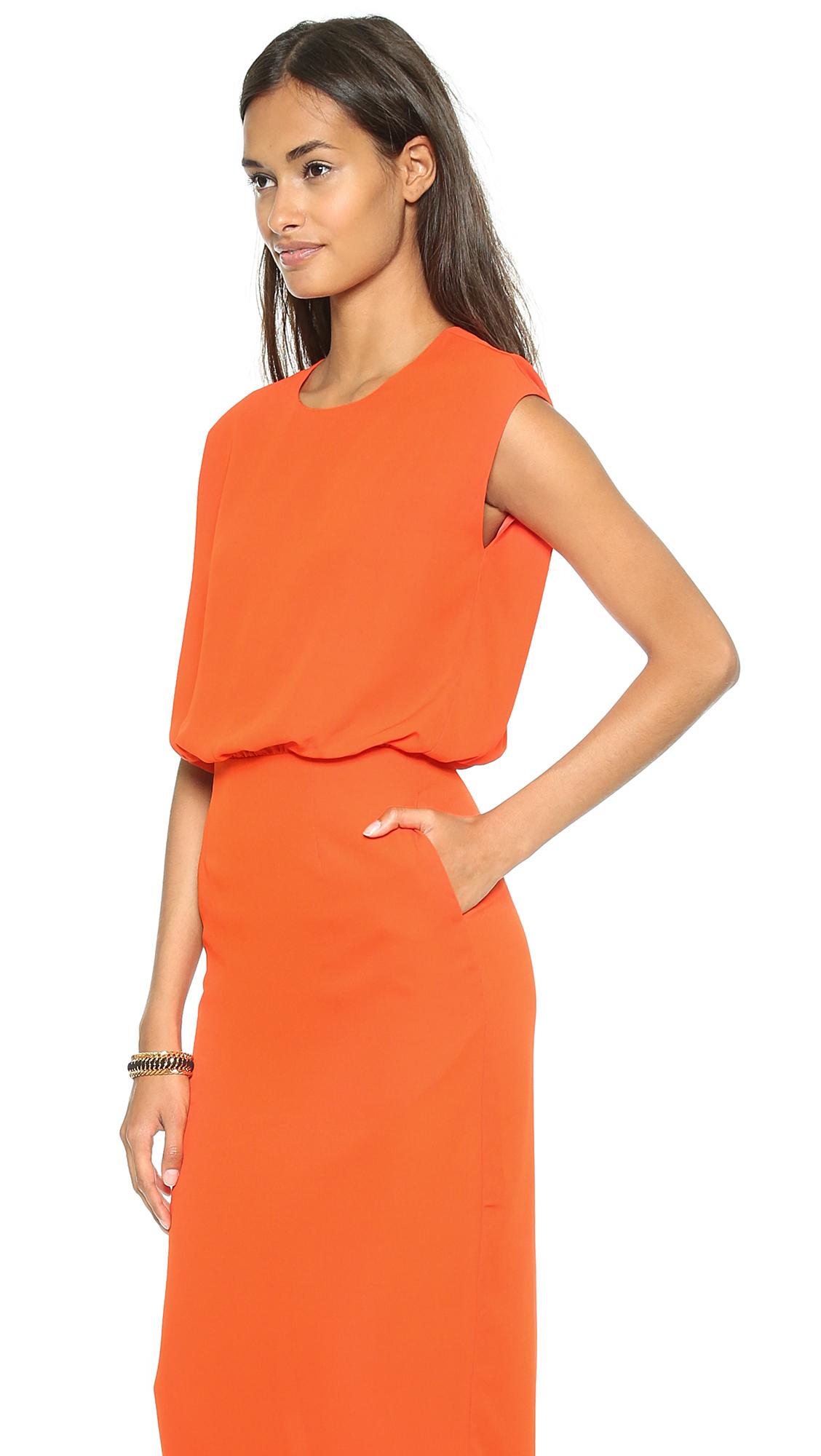 Blaque Label Sleeveless Dress Black In Orange | Lyst