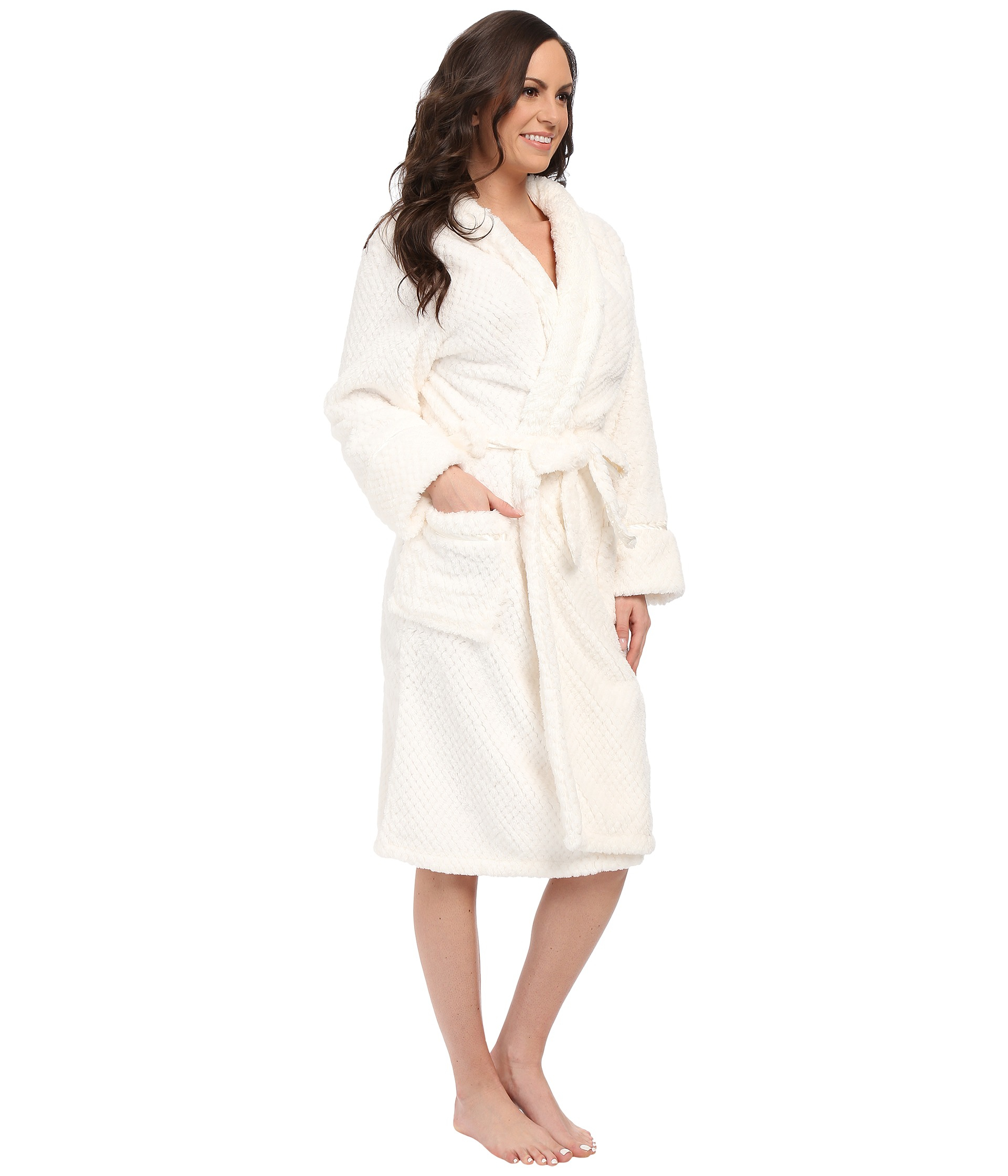 b5a5221612e18 Pj Salvage Waffle Robe in White - Lyst