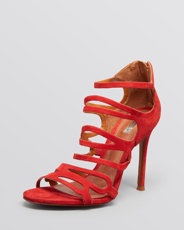 Schutz Evening Sandals Strappy High Heel In Red Lyst