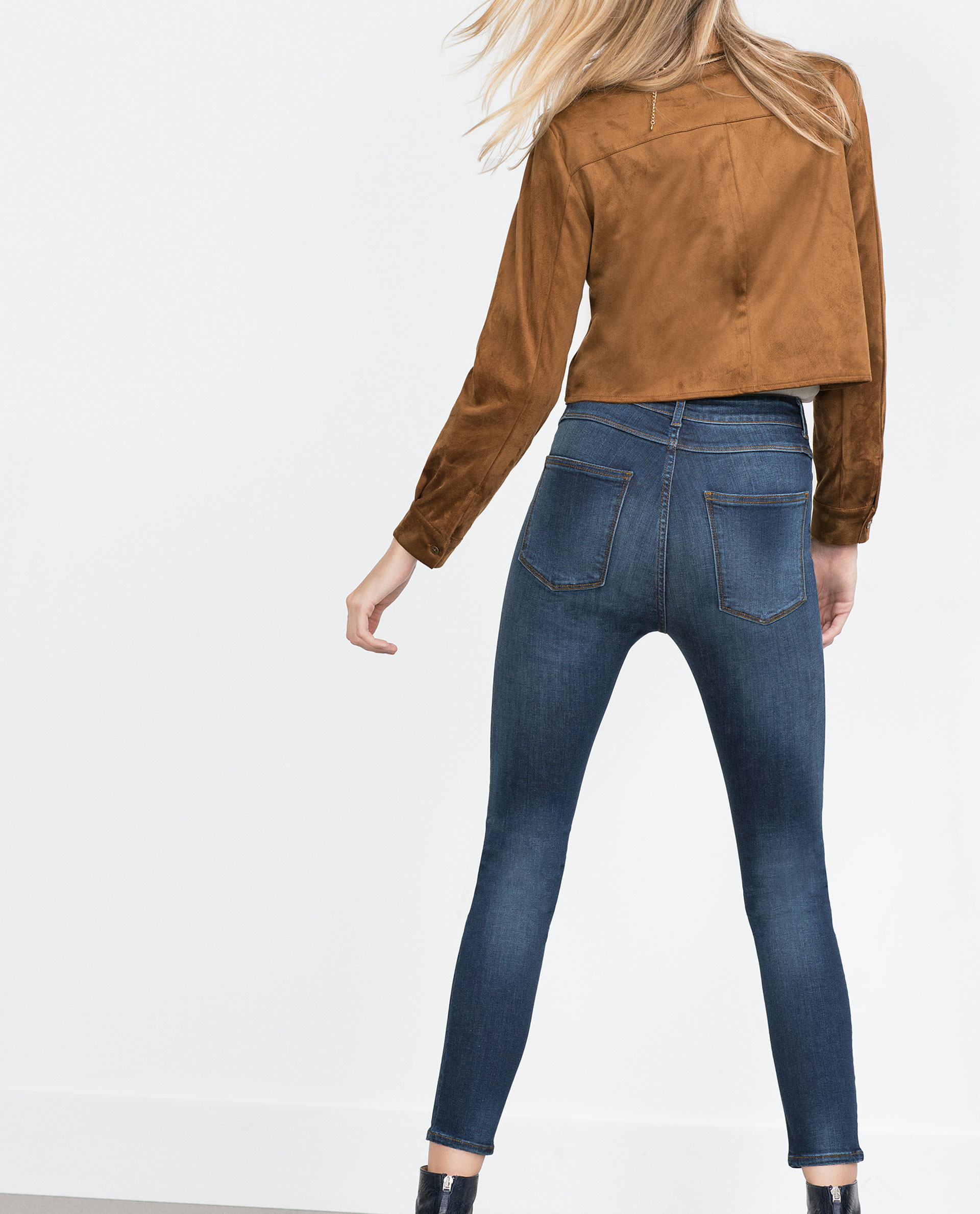Luxury Zara Extra Large Jeans In White  Lyst