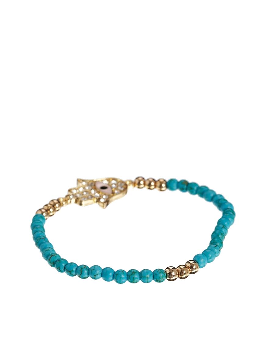 Gold plated ASHIANA cufflink bracelet with turquoise stone Ashiana ETk2ZcdXS9