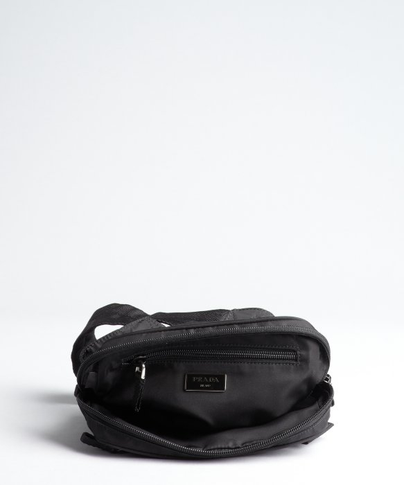 495ac437e281 ... clearance lyst prada black tessuto waist bag in black for men fda33  658fd