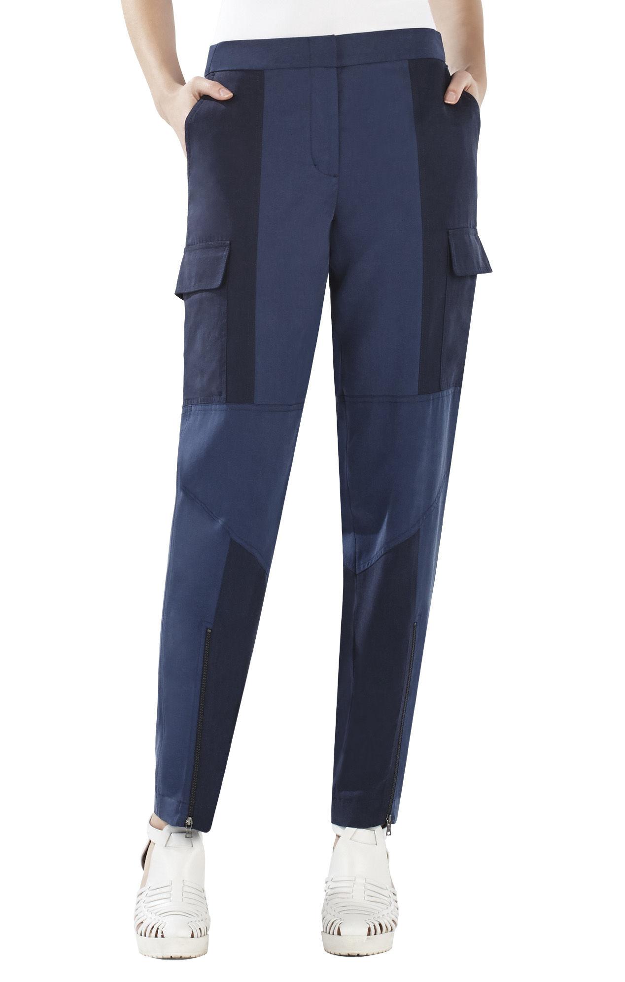 Bcbgmaxazria Neal Contrast Moto Pant in Blue (DARK CHINA ...