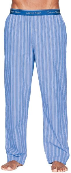 Calvin Klein Stripe Pj Bottoms In Blue For Men Blue
