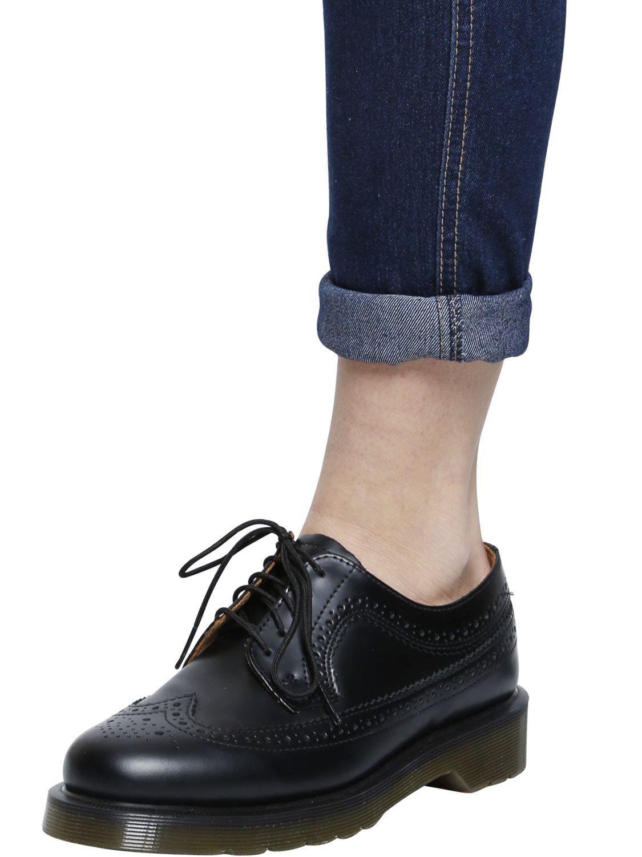 lyst dr martens 3989 brogue leather derby lace up shoes in black. Black Bedroom Furniture Sets. Home Design Ideas