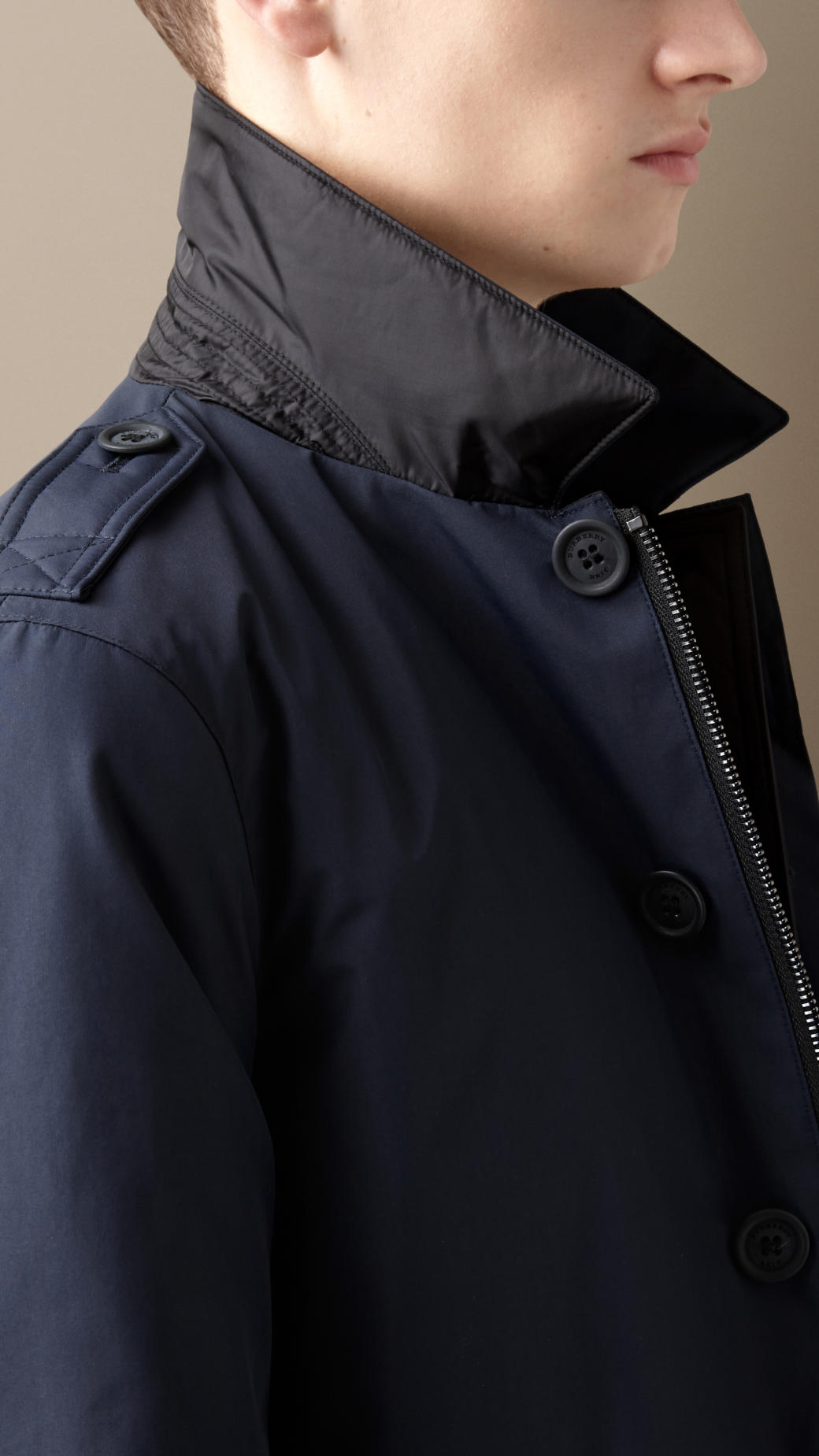 Burberry Reversible Down-filled Car Coat in Blue for Men | Lyst