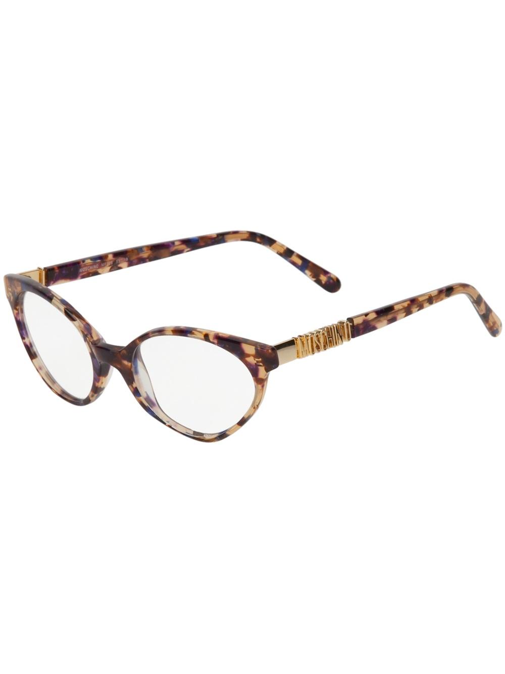 efc7640bf6c Moschino Cat Eye Glasses - Lyst
