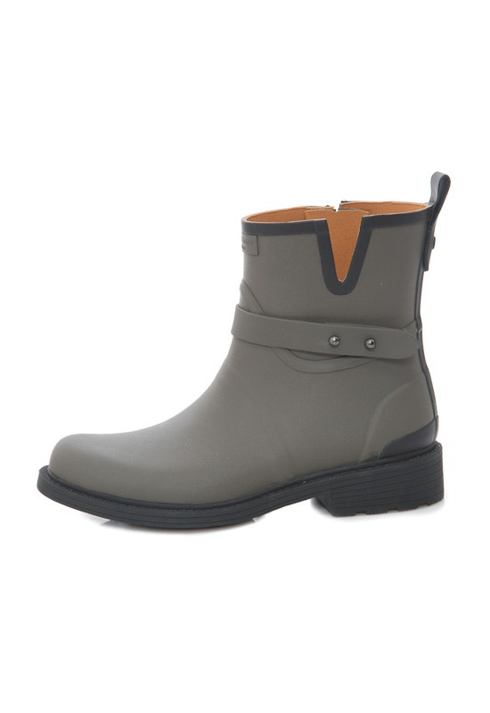 Rag Amp Bone Moto Rain Boot In Gray Smoke Rubber Lyst