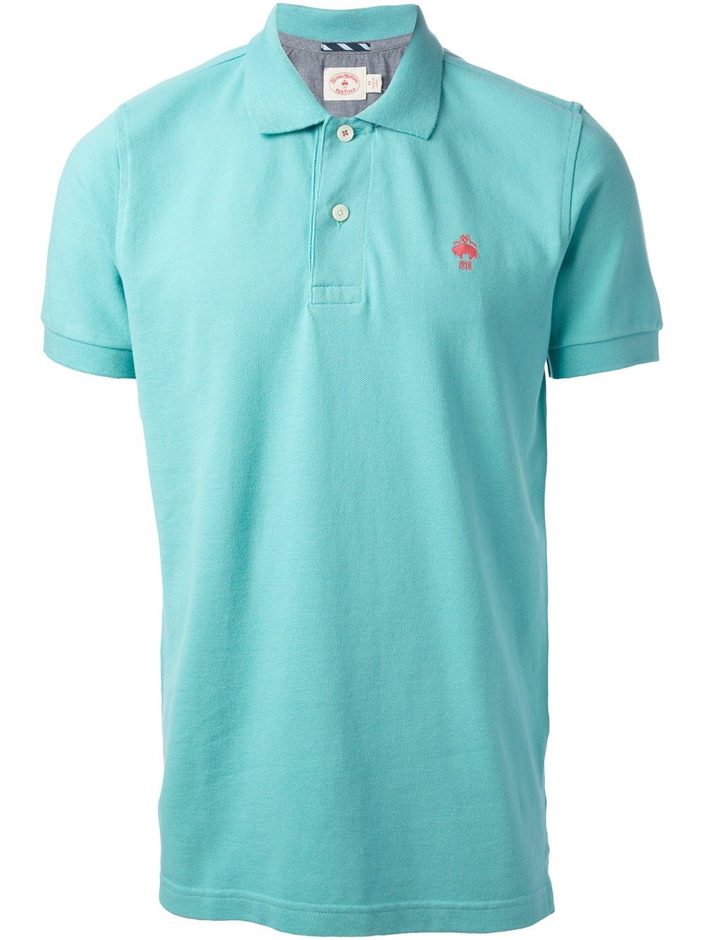 Brooks brothers polo shirt in green for men lyst for Brooks brothers dress shirt fit guide