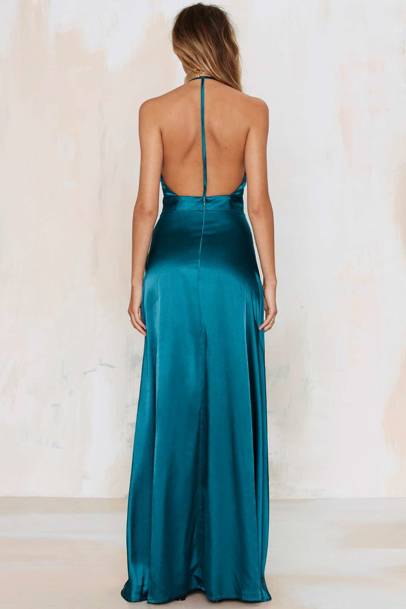 Twin Sister Grand Entrance Satin Maxi Dress In Blue Lyst