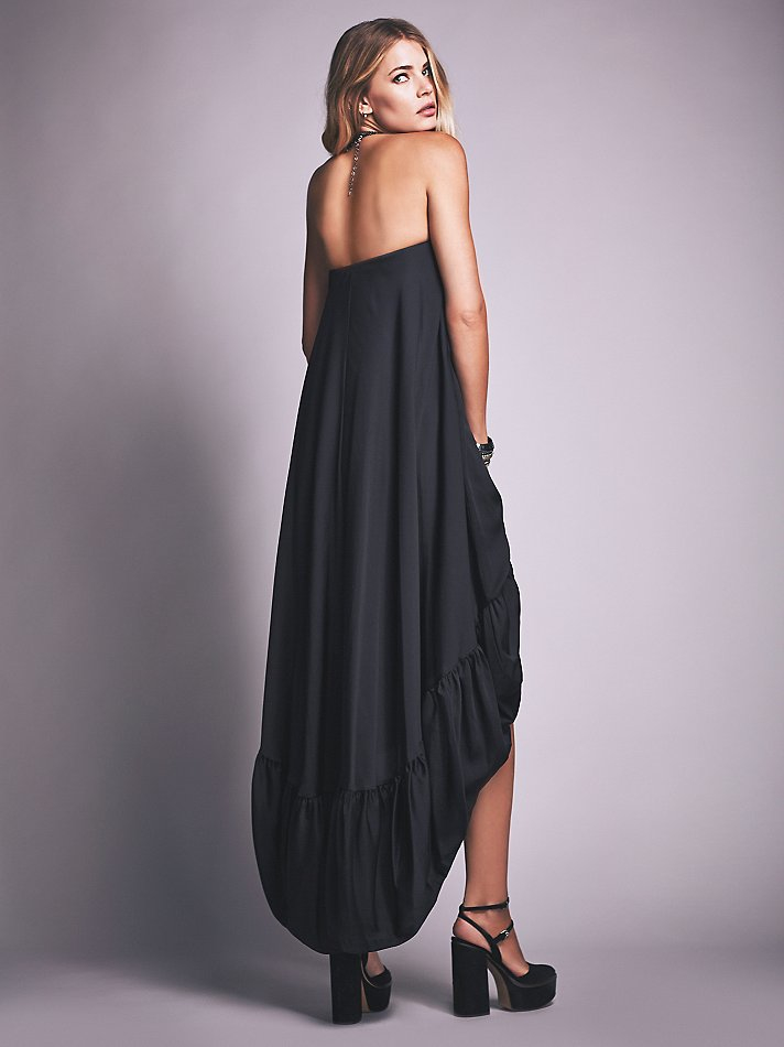 Free people Tube Maxi Dress in Black | Lyst