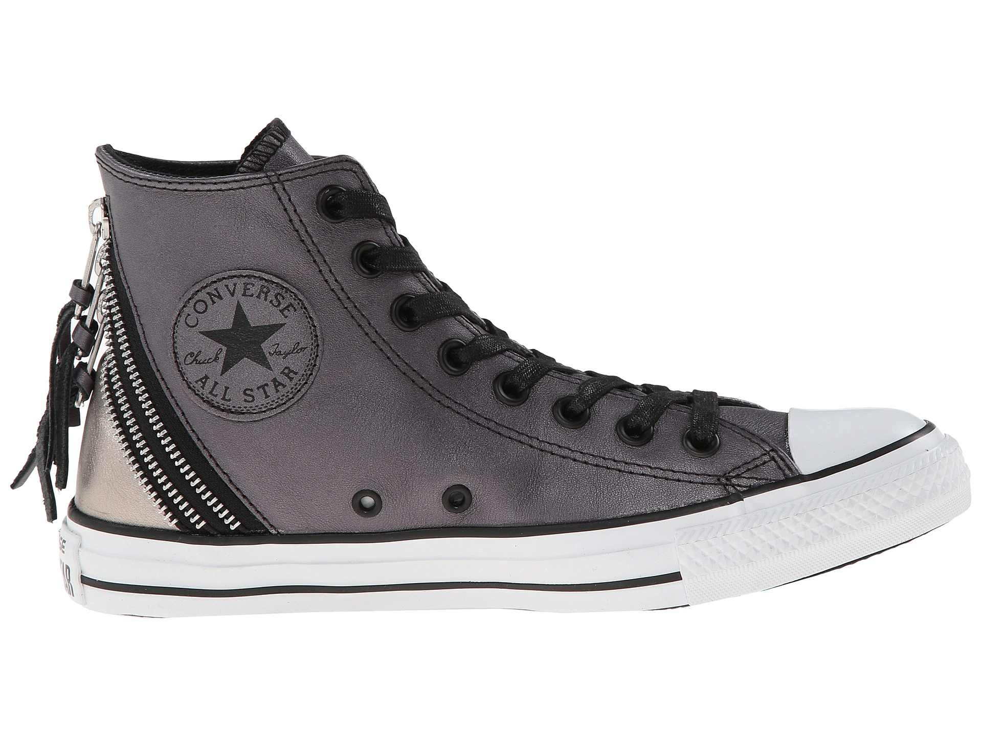 b76e38abaa2f Lyst - Converse Chuck Taylor® All Star® Tri Zip Color Shift Leather ...