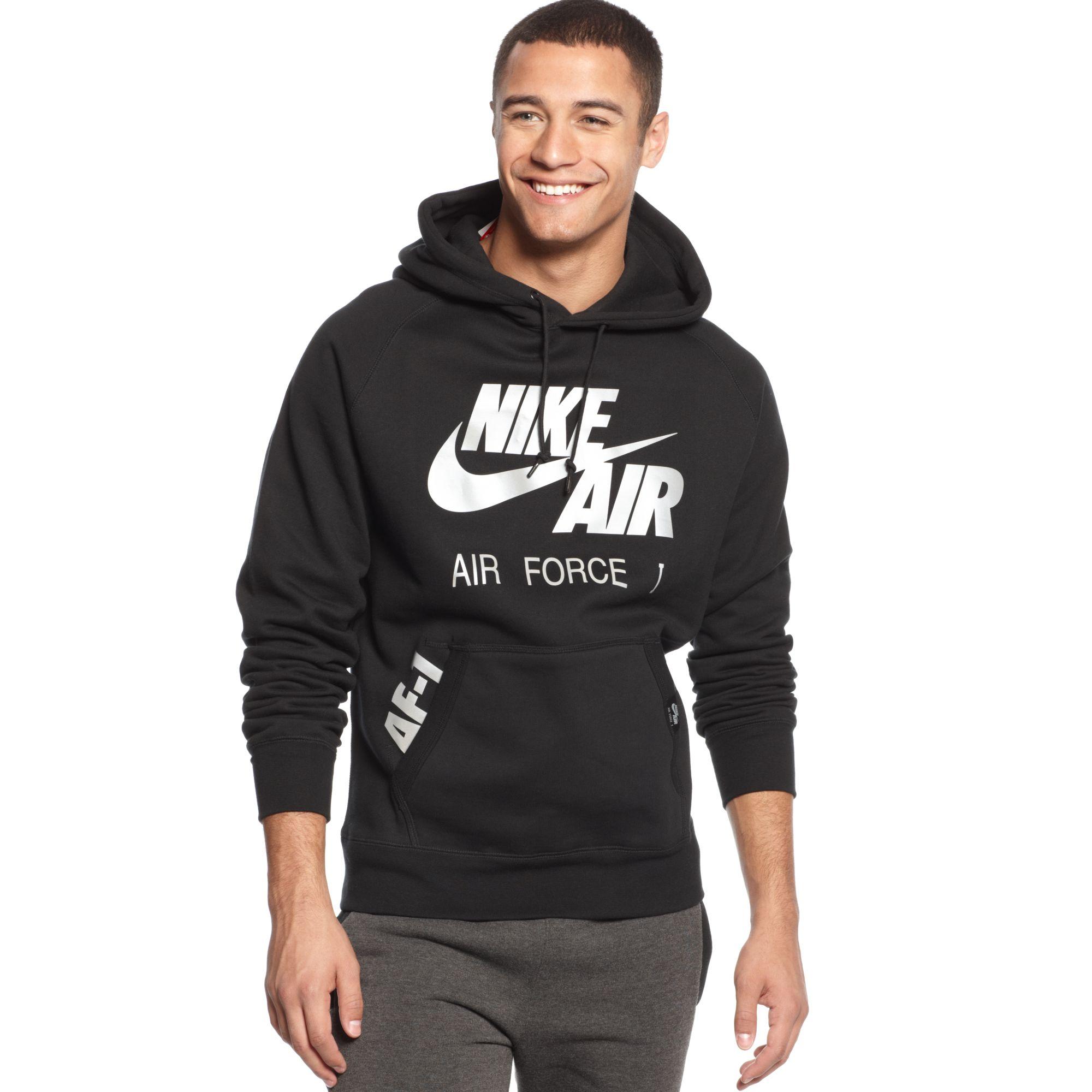 027057eb Nike Air Force 1 Hoodie in Black for Men - Lyst