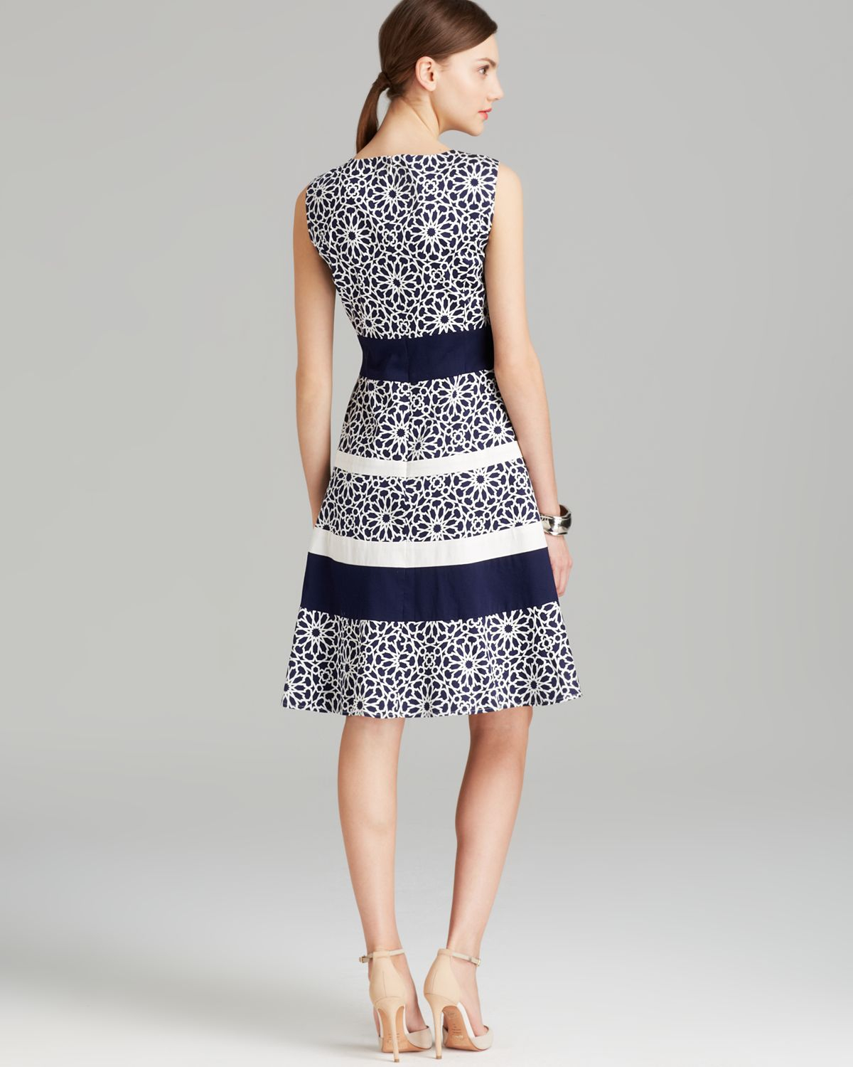 Lyst Anne Klein Dress Sleeveless Print Swing Fit And