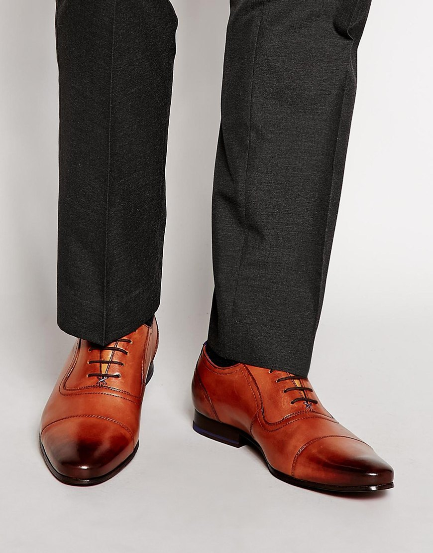 d1d36feee9cd7 Lyst - Ted Baker Rogrr Oxford Shoes in Brown for Men