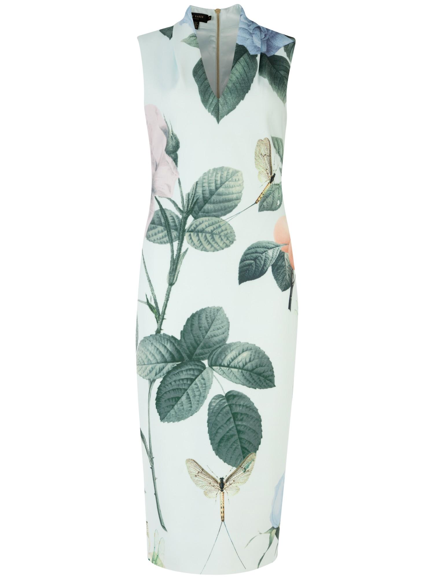 5a2ac1c7aa9dc Ted Baker Ravina Distinguishing Rose Midi Dress in Green - Lyst