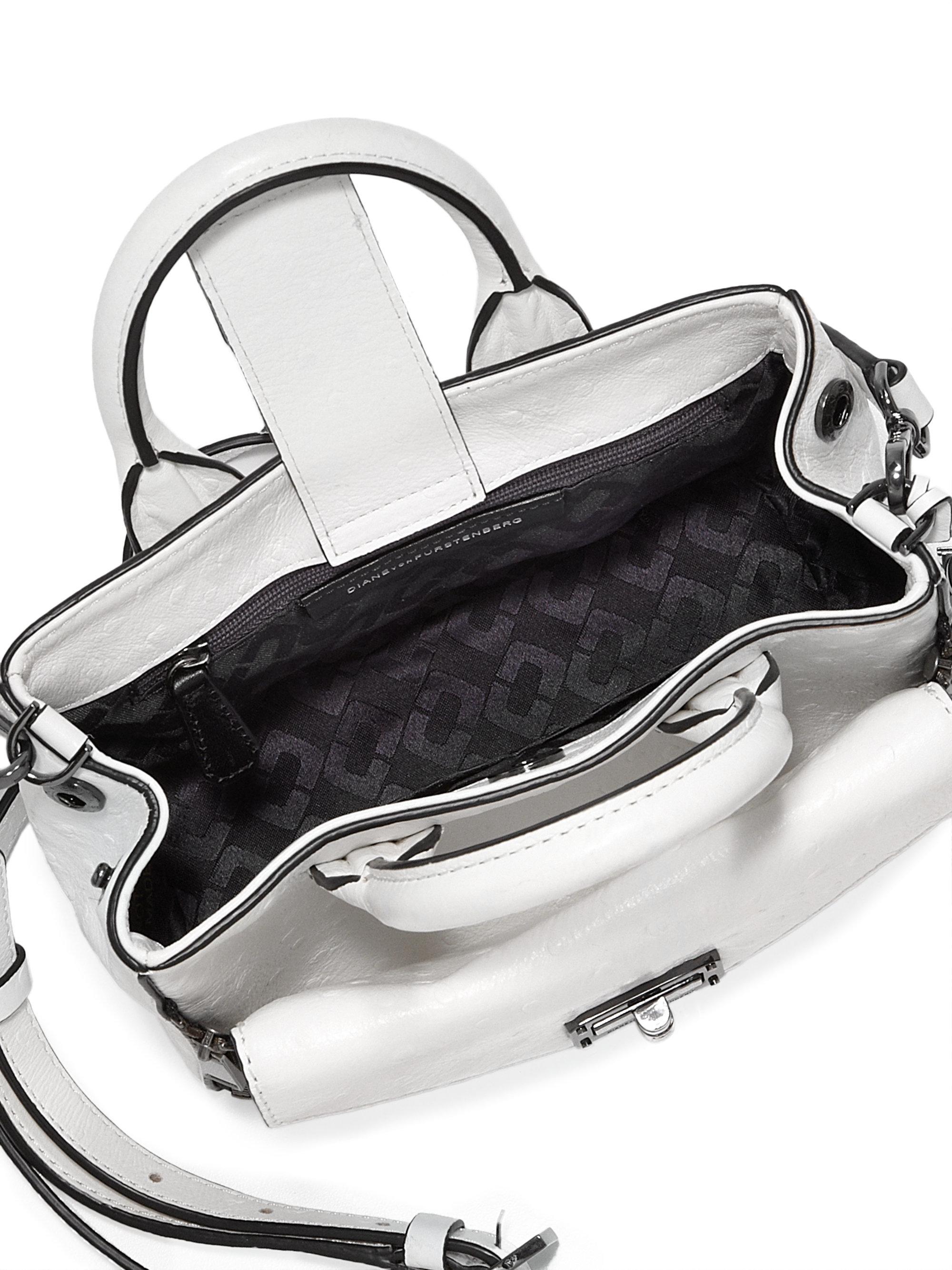 21dd1eb987 Lyst - Diane von Furstenberg 440 Gallery Secret Agent Mini Leather ...