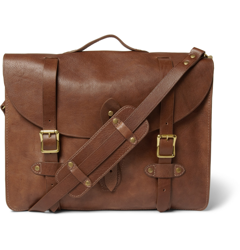 8f8f35e8b2 Lyst - J.Crew Montague Distressed-Leather Satchel in Brown for Men