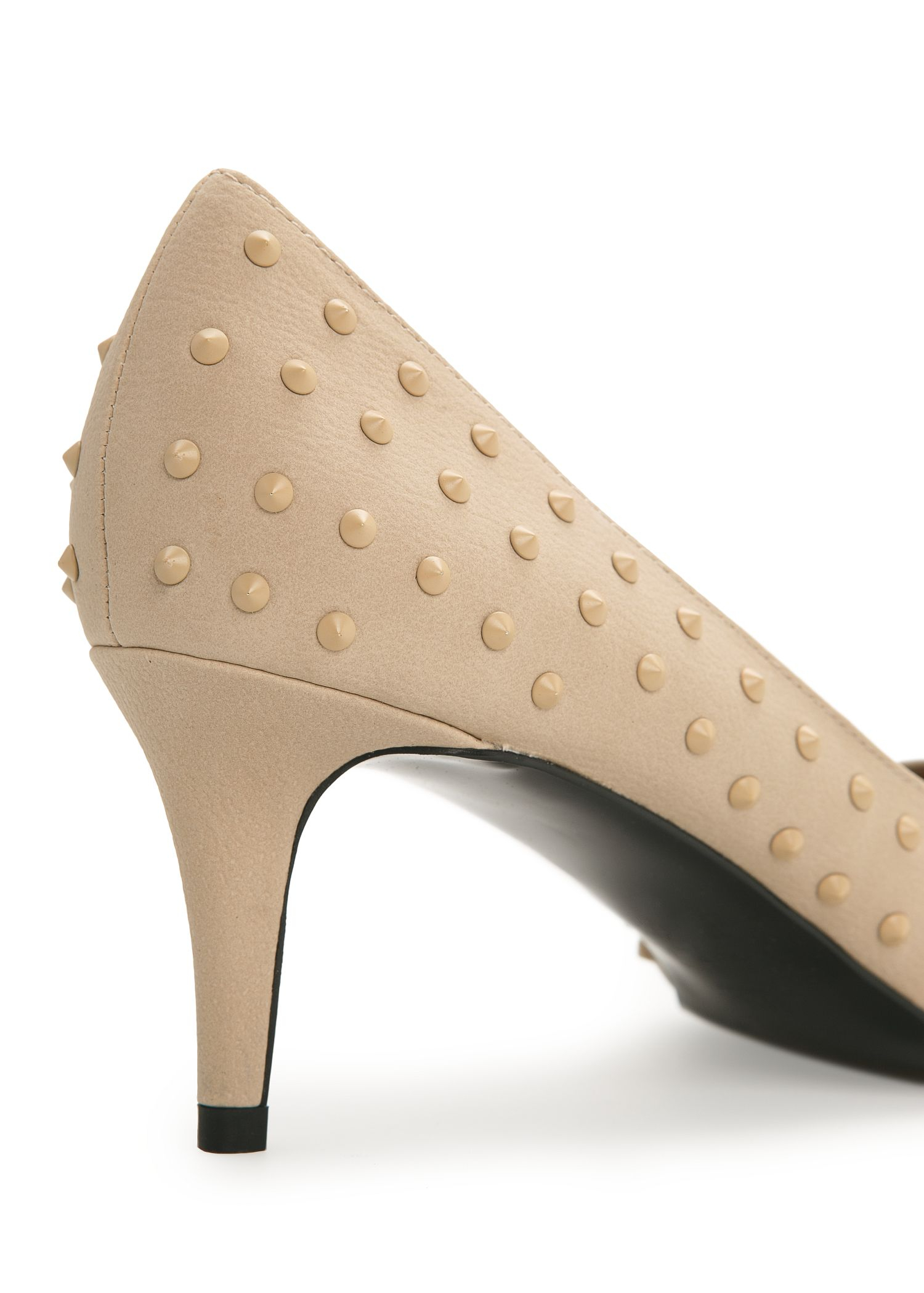 Lyst - Mango Studded Stiletto Shoes In Natural