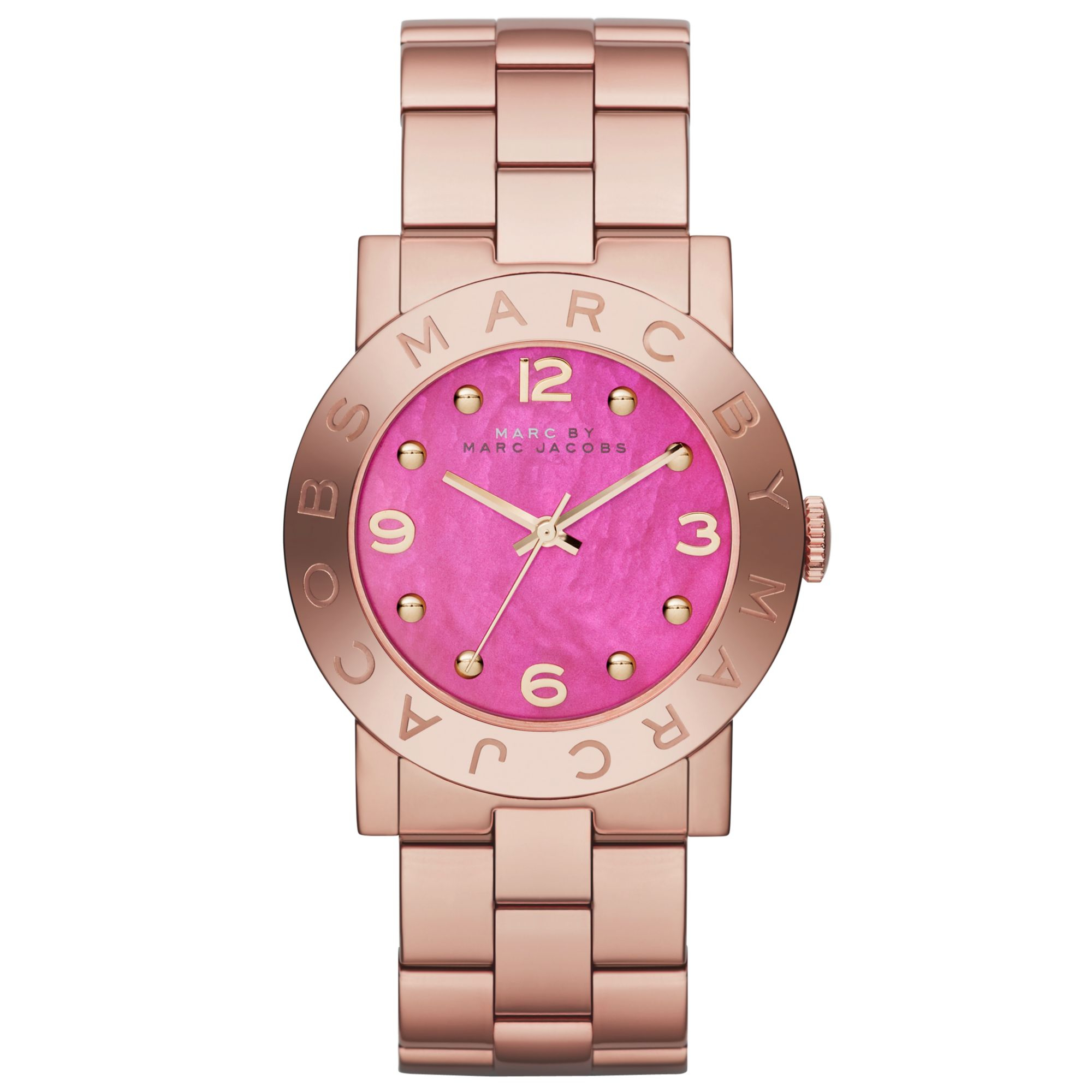 Mother of Pearl Goldtone Round Bracelet Watch - Women forecast