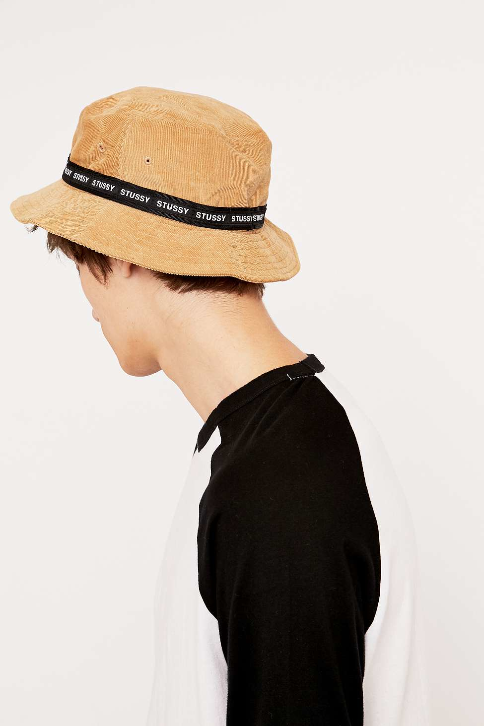 Stussy Tan Band Cord Bucket Hat In Natural For Men Lyst