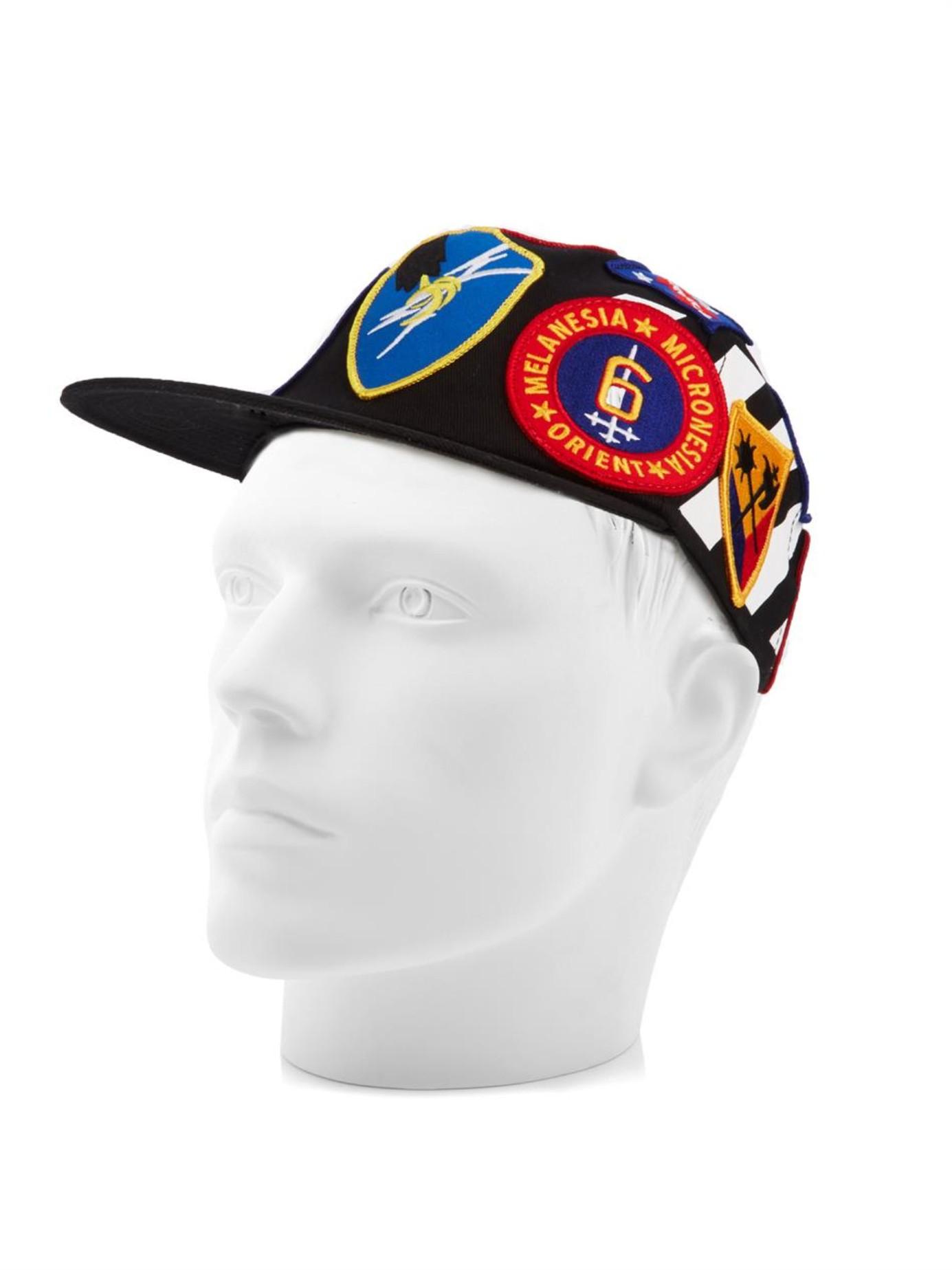 Logo-patch velvet cap Off-white Q5tJn4