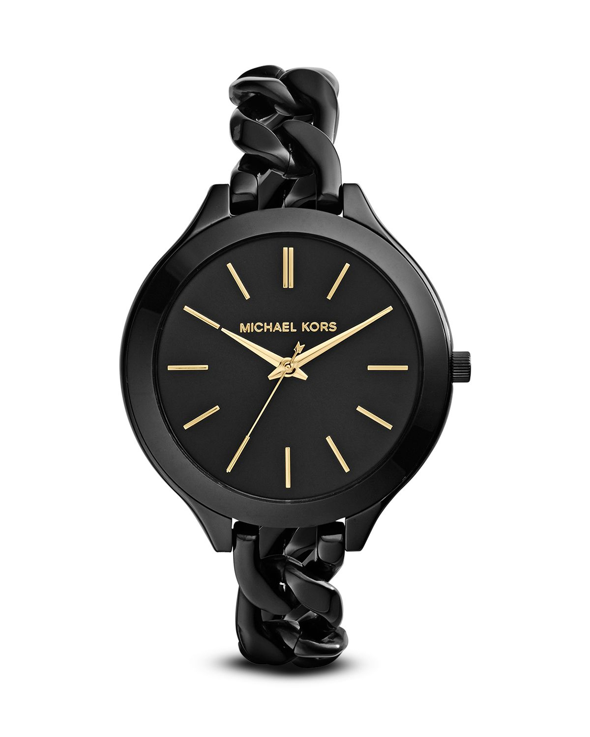 michael kors slim runway watch 42mm in black lyst. Black Bedroom Furniture Sets. Home Design Ideas