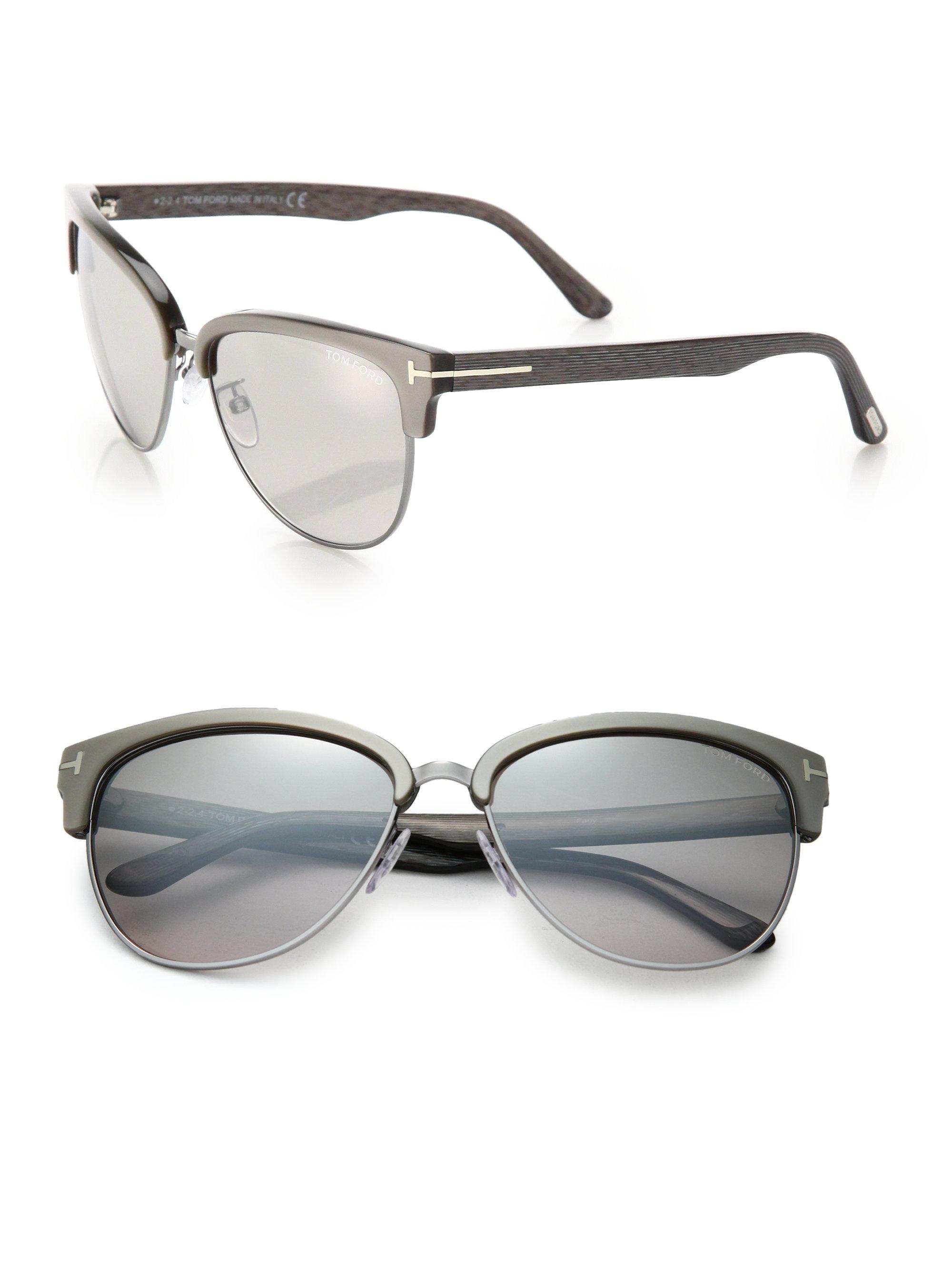 b0470d99074 Cartier Half Rim Square Sunglasses Light Grey Lens